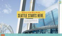 Vintage-inspired website for Seattle's Space Needle. Flytande webb åt fel håll.