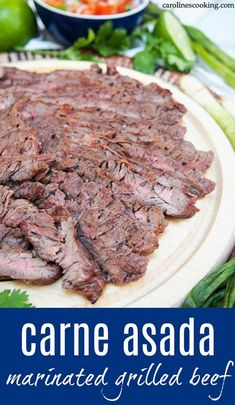 This traditional Mexican carne asada is a delicious and easy marinated, grilled beef dish that makes tacos perfect for summer. With minimal ingredients and effort, it's a meal you'll have on repeat.#mexican #grilledbeef #grilling #tacos #marinade Mexican Dishes, Mexican Food Recipes, Real Food Recipes, Dinner Recipes, Lunch Recipes, Dinner Ideas, Marinated Beef, Grilled Beef, Beef Dishes