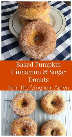 Pumpkin Cinnamon and Sugar Donuts Baked pumpkin, cinnamon and sugar donuts- all the fall flavors in a delicious donut!Baked pumpkin, cinnamon and sugar donuts- all the fall flavors in a delicious donut! Baked Donut Recipes, Baked Doughnuts, Baking Recipes, Dessert Recipes, Homade Donuts, Baked Pumpkin, Pumpkin Recipes, Fall Recipes, Holiday Recipes