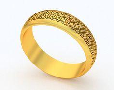 Mens Celtic wedding ring, 10 k, 14k ou 18 k bague motif celtique irlandais. Irlandais bijoux fabriqués à la main en Irlande.