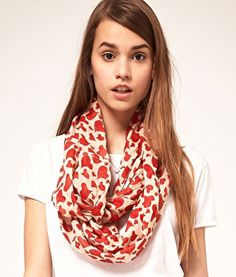 Heart printed scarf for just a touch of #Vday spirit.