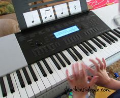 Free Online Piano Lessons 4 Kids ~With Lesson Materials Giveaway! | Teach Beside Me