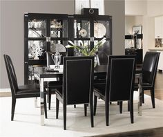 Black Dining Room Suite More Luxury Hollywood Interior Design Inspirations To Pin, Share & Inspire @ InStyle-Decor.com Beverly Hills (Use Our Red Pinterest Speed Pin Button Top Of Each Page Happy Pinning)