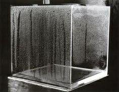 Uns 6-7 vasos de auga diarios é o mínimo para manter unha axeitada hidratación. Obra: Hans Haacke #30pingas #AugaDoce