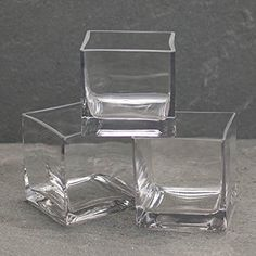 Square Glass Vase Clear Cube 4 x 4 inches 12 pack -- You can get more details by clicking on the image.