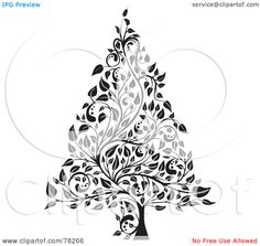 tree clip art black white hd christmas cookie clipart black and white - Christmas Tree Clipart Black And White