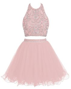 Bridesmay Short Tulle Two Piece Bridesmaid Dress Beaded Party Dress Prom Dress *** Discover this special product, click the image : cocktail dresses