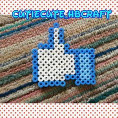 Facebook like perler beads by blink2cutiecute