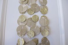 Gold Paper and Glitter Garland Wedding Garland by PaperJayneDebbie