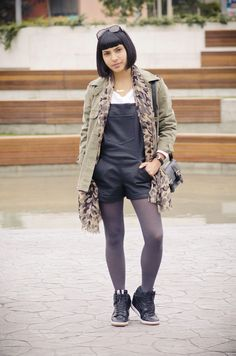 #overall #fashion #fashionblogger #parka #outfit #looks #style #moda