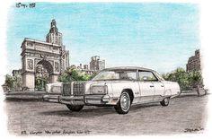 1978 Chrysler New Yorker Brougham Sedan Hard Top - drawings and paintings by Stephen Wiltshire MBE