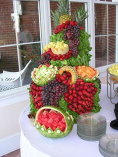 YUM!!!!!!!   Fruit tower