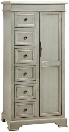 Stein World Cabinets Tall Storage Cabinet w/ 6 Drawers - Johnny Janosik - Occasional Cabinet Delaware, Maryland, Virginia, Delmarva