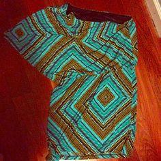 "Selling this ""One shoulder pattern dress"" in my Poshmark closet! My username is: lovelythorns. #shopmycloset #poshmark #fashion #shopping #style #forsale #Dresses & Skirts"