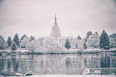 Idaho Falls Temple in winter. #LdsTemple