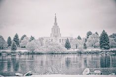 The beautiful Idaho Falls Temple! The temple by the river. (www.lds.org)