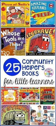 21 community helpers themed books for preschool, pre-k, and kindergarten that students are going to LOVE!