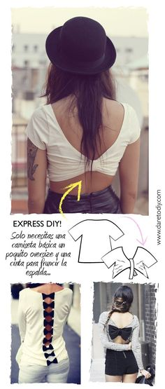 DIY Easy Bow Crop Top Tutorial