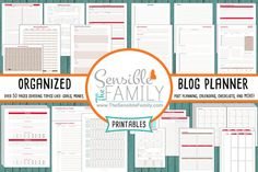Organized Blog Planner Mega Kit The ONLY by TheSensibleFamily