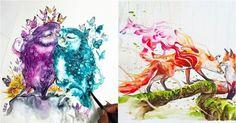 15 Lukisan cat air buatan pria asal Malang ini bikin terpesona Malang, Proposal, Cats, Pictures, Painting, Photos, Gatos, Painting Art, Cat