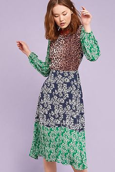 Rixo Penelope Midi Dress, Green