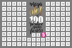 Ad: set of 100 positive summer quote by karakotsya on mega set of 100 hand written lettering positive quotes posters about happy summer, motivation and inspirational journey phrases to design, Postcard Template, Card Templates, Flyer Template, Design Templates, Invitation Templates, Templates Free, Invitation Design, Invitation Cards, Invitations