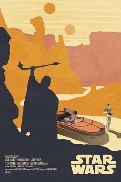 starwarsposters: Wonderful set of illustrated minimalist star wars posters. darthtrafford: STAR WARS:Alt Art Movie Posters