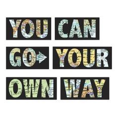 Go Your Own Way Decor - Peel N Stick Dorm Decor Dorm Decorations Peelable Wallpaper Dorm Accessories Decorations for College Cool Posters Inspirational Poster Dorm Accessories, Decorative Accessories, Home Quotes And Sayings, Wall Quotes, Text Quotes, Wall Stickers, Wall Decals, Wall Art, Peelable Wallpaper