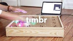 timbr is an interactive LED box and midi controller reacting to movements without touching. Giving audiovisual Feedback dependent on positions and movements of objects in front of it. Software used: Arduino, Processing & Ableton.   It's a project of my sixth semester Interactive Media Design, h-da Darmstadt. Realized during the elective physical interaction. It was lots of fun - enjoy.
