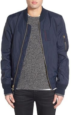 Alpha Industries 'skymaster' Lightweight Bomber Jacket In Replica Blue Bomber Jacket Men, Bomber Jackets, Mens Military Style Jacket, Urban Fashion, Mens Fashion, Paris Fashion, Clothes For Women Over 50, Fall Jackets, Man Style