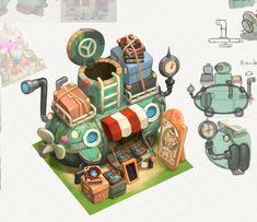 Environment Painting, Environment Concept Art, Environment Design, Prop Design, Game Design, Fallout Concept Art, 2d Game Art, Underwater Art, Isometric Art