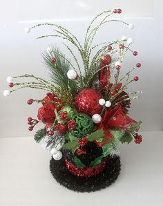 Christmas decor centerpiece Snowman hat Table Décor by Leopard