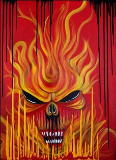 Skull Fire by Artist Laura Barbosa  #art #laurabarbosa
