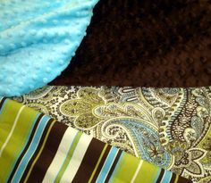 blue and green and brown baby room colors