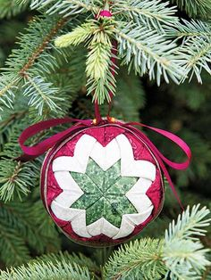 How to make an Heirloom Ball No Sew Christmas Ornament Pattern