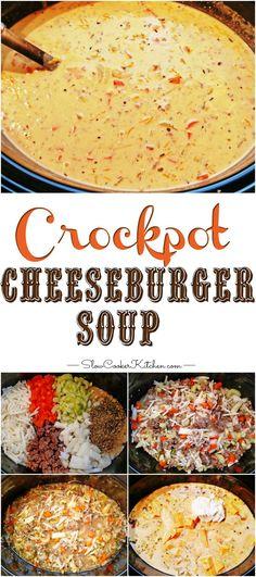 crockpot cheeseburger soup