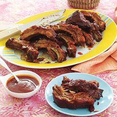 Rum-Glazed Spare Ribs #recipe (baked, not grilled so you can enjoy them year-round!)