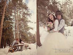 Una sesión de fotos que os va a robar el corazón Snowy Wedding, Dream Wedding, Boho Deco, Winter Wedding Inspiration, Young Love, Happily Ever After, Affair, Bride, Wedding Dresses