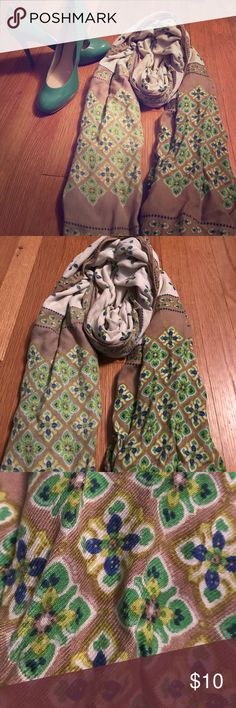 Patterned scarf Airy woven cotton scarf. Accessories Scarves & Wraps