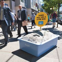 In order to show that science can be fun, Science World museum and Rethink Canada created a series of smart ambient ads showing various fun facts on the streets of | http://funnycommercialads509.blogspot.com