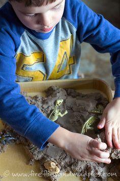 Preschool Dinosaur Dig | Fireflies and Mud Pies