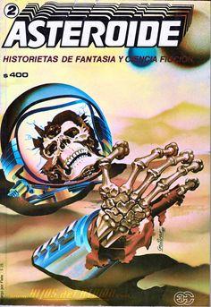 Galería con las portadas de la revista chilena Asteroide: Historietas de Fantasía y Ciencia Ficción, publicada hacia fines de la década de los 80.