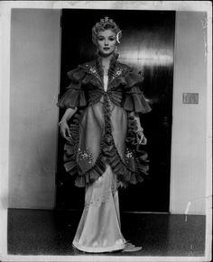 Marilyn photographed in her costume for The Prince And The Showgirl, 1957.