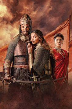 Deepika Padukone ♥ and Ranveer Singh,Priyanka Chopra #BajiraoMastani #BajiraoPoster