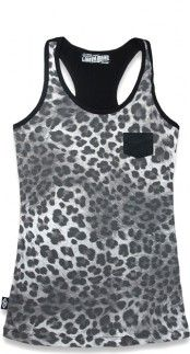 Liquorbrand Leo Plush Tank Top in Grey| Blame Betty