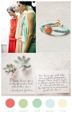 Coral-Mint-Wedding-Colors