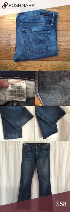 "Citizens of humanity dita bootcut jeans Pre loved but good condition. Has a small snag as seen in photo. Bottoms of jeans are on good condition. Leg opening approx 8"". Inseam approx 29.5"" Citizens of Humanity Jeans Boot Cut"