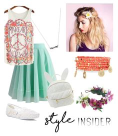 """Style insider"" by filledwithflowers ❤ liked on Polyvore featuring Chicwish, TOMS, cutekawaii, Rock 'N Rose, Emily & Ashley, contestentry and styleinsider"