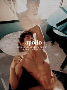Apollo, Greek god of healing, medicine, music and poetry Apollo Mythology, Greek Mythology Gods, Greek Gods And Goddesses, Apollo Tattoo, Greek God Costume, Apollo Aesthetic, Apollo Greek, Eros And Psyche, Greek Men