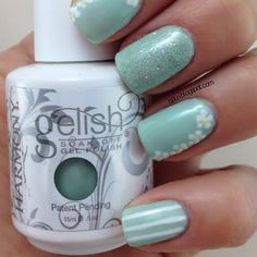 This gel nail art features dainty flower designs against a gorgeous mint green base. Get the essentials to recreate this manicure in this how-to.